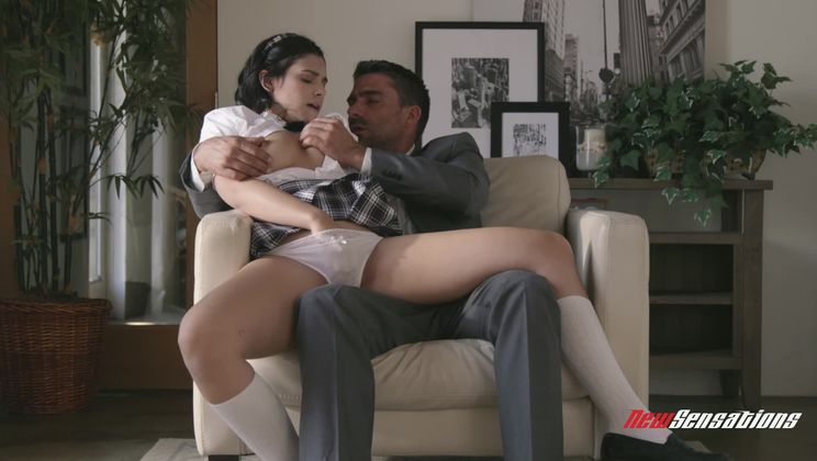 Violet Follows And Pleases Her Instructor