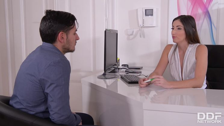 French Temptation: Slim Secretary Enjoys Dick Up Her Ass